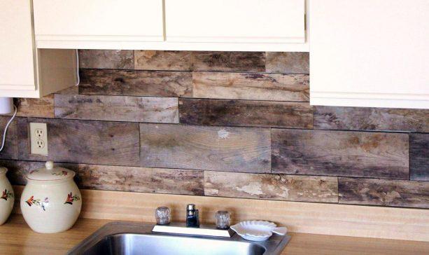 pallet kitchen backsplash idea