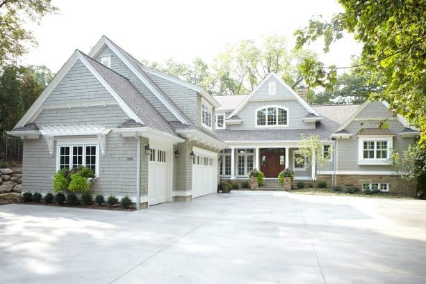 installing gray vinyl siding is amongst the better ideas to create a timeless ranch style house