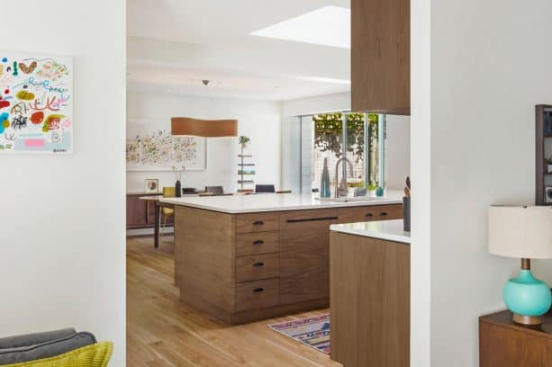 after remodeling a ranch kitchen into a very modern space