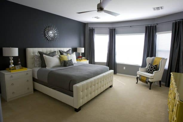 beige carpet color goes with dark grey walls