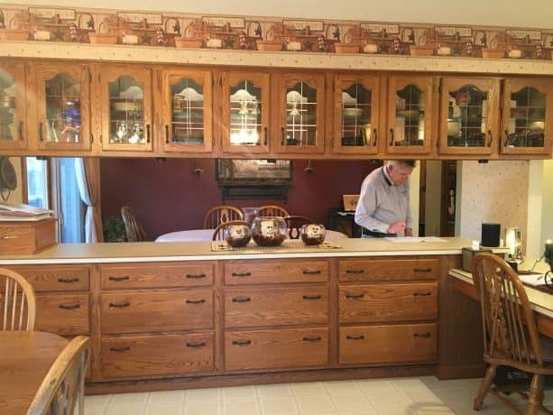 the old oak cabinets tend to look rustic