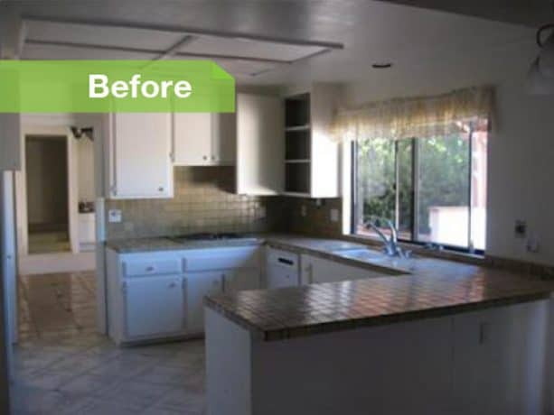 before remodel spanish-style raised ranch kitchen