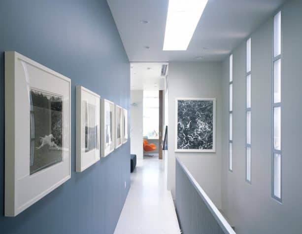 purplish grey hallway color