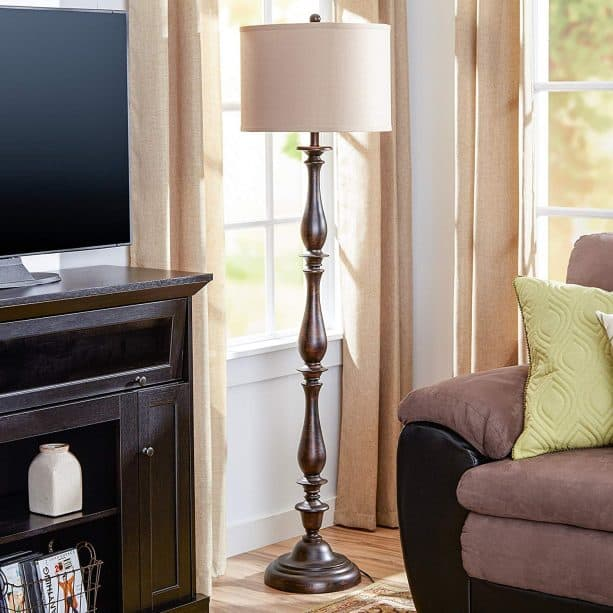 classic style floor lamp for a living room