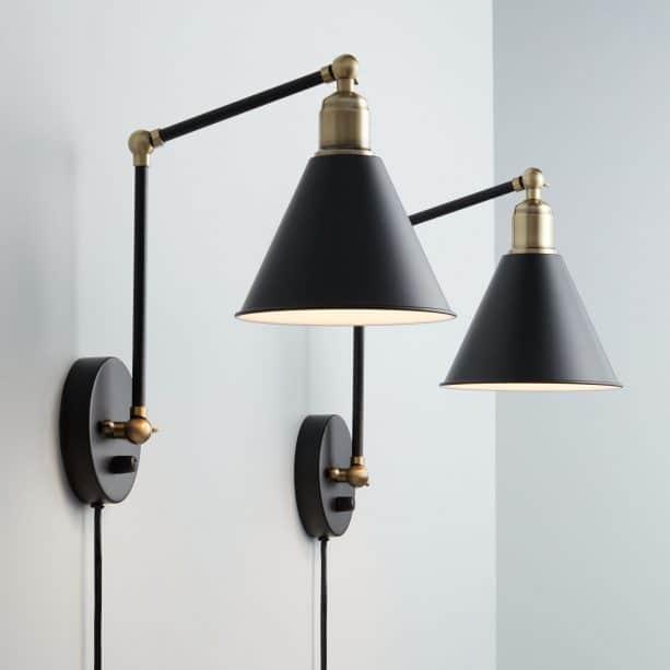 wall lights with plug for a living room