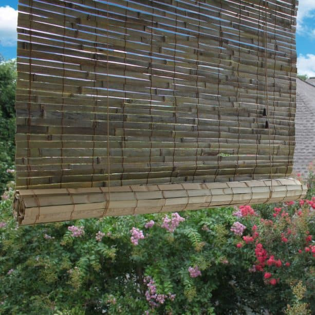 the natural non-finished look of a bamboo blind