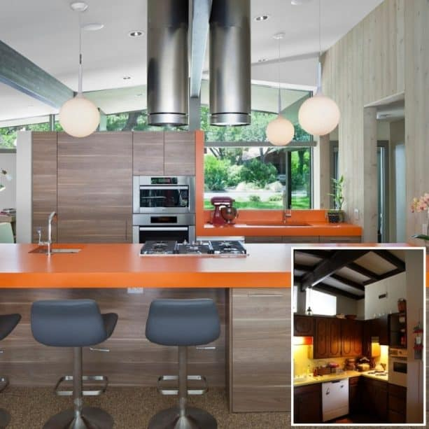 a remodel project that reinvigorates a midcentury ranch kitchen with before and after photos
