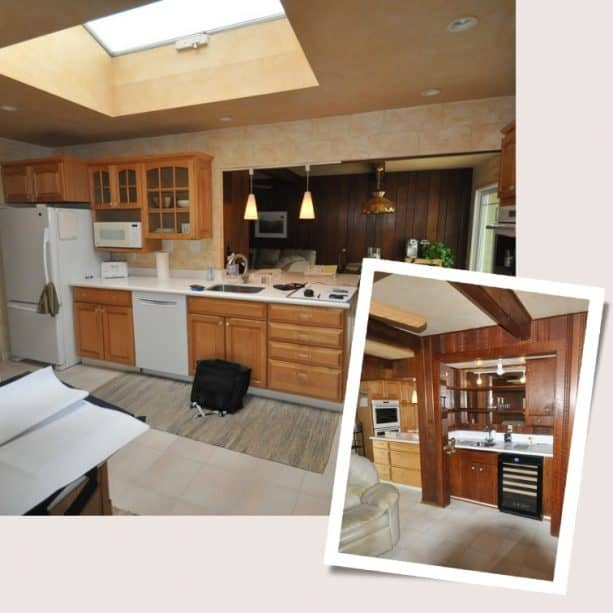 before remodeling a ranch kitchen into a very modern space