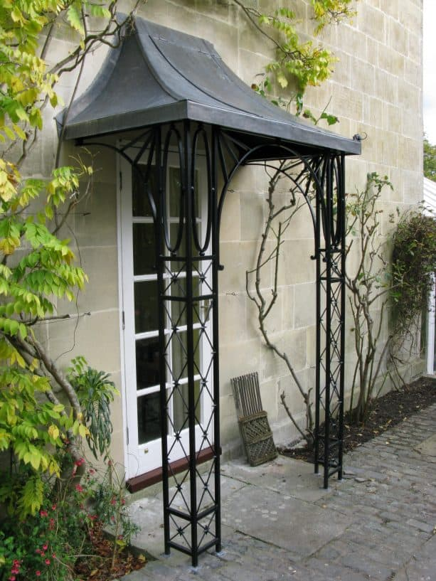 mini wrought iron columns for a tiny space