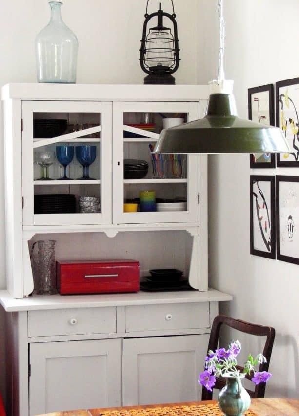raised ranch kitchen remodel with thrift store dresser