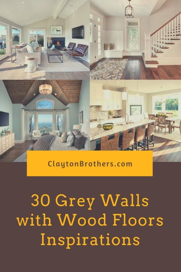 Grey Walls with Wood Floors
