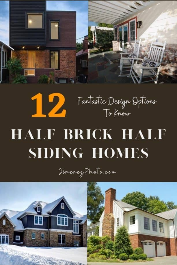 Half Brick Half Siding Homes