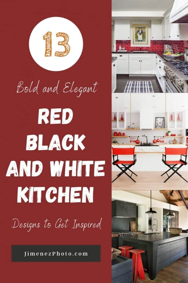 13 Bold and Elegant Red Black and White Kitchen Designs