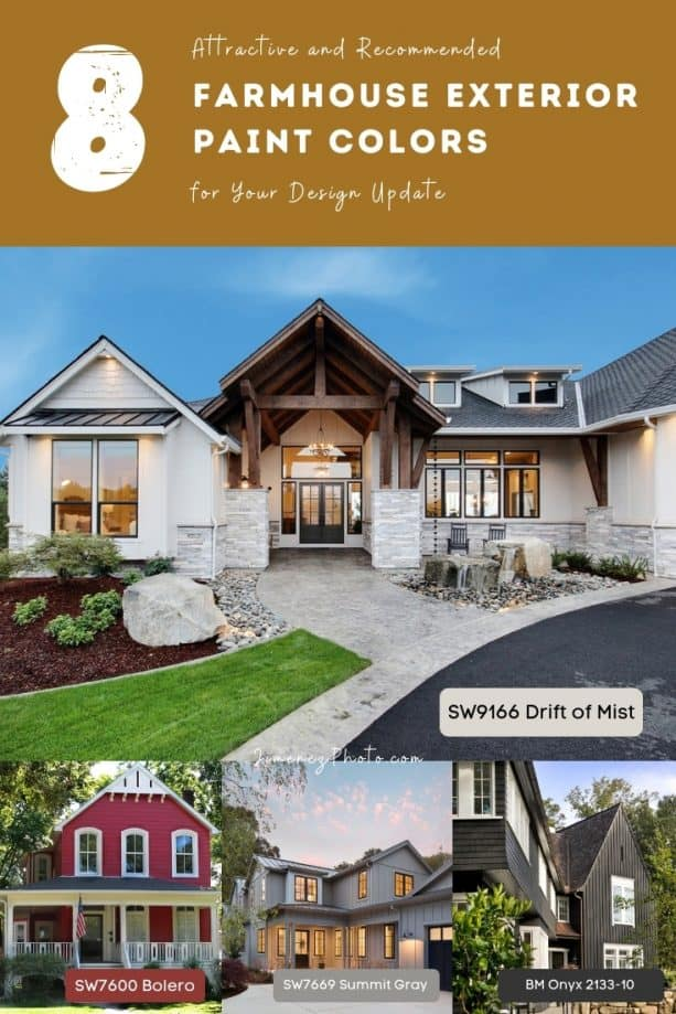 8 Attractive and Recommended Farmhouse Exterior Paint Colors