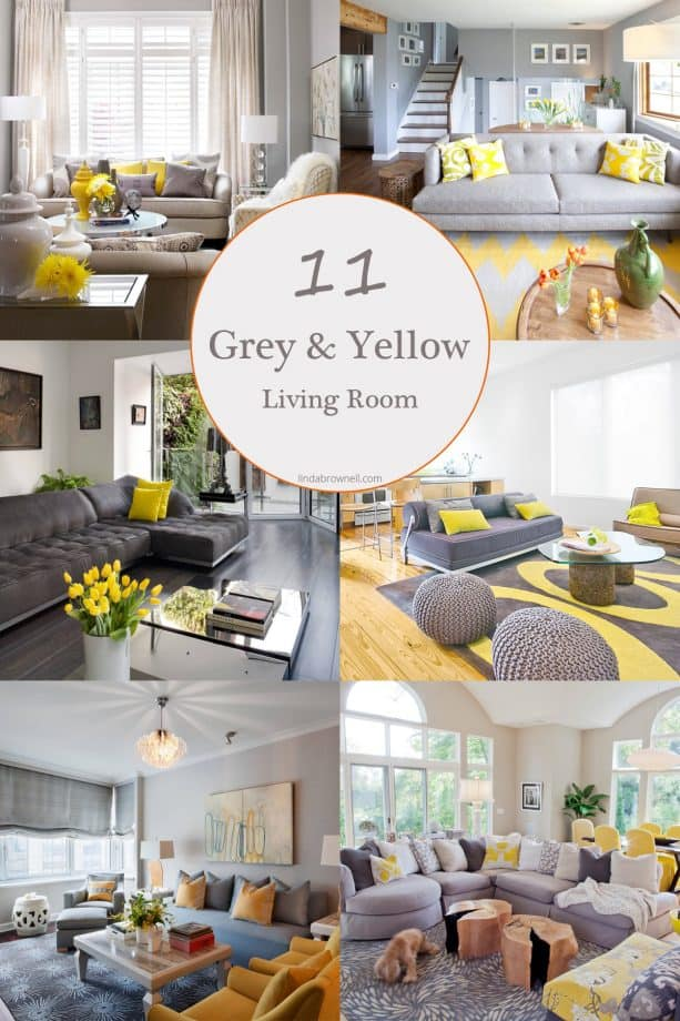 11 most stunning grey and yellow living room