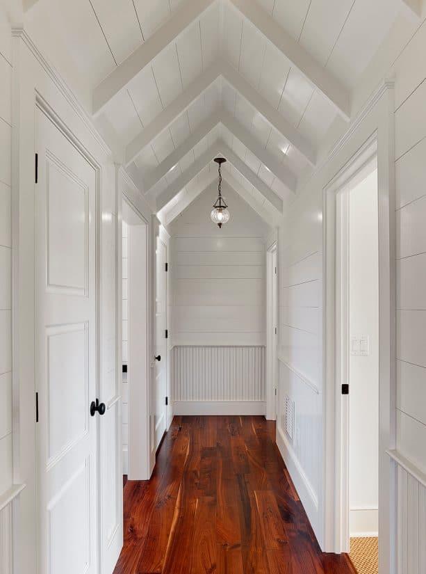 white hallway design