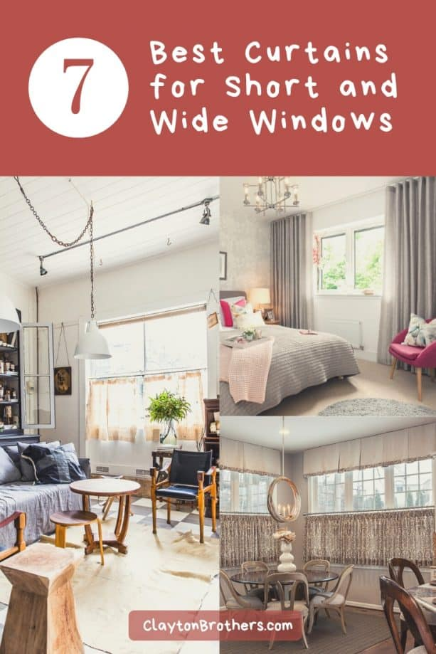 Curtains for Short and Wide Windows