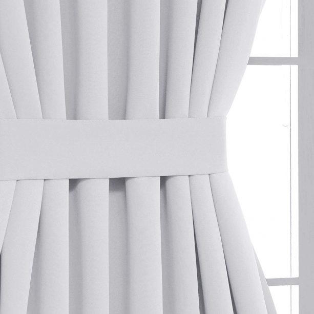Deconovo white tieback panel curtain for door