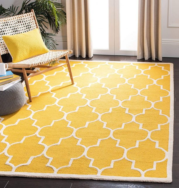 Savafieh gold and ivory area rug