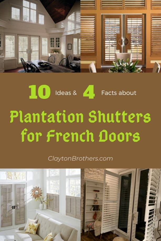 Plantation Shutters for French Doors