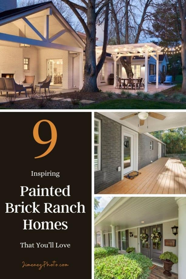 Painted Brick Ranch Homes