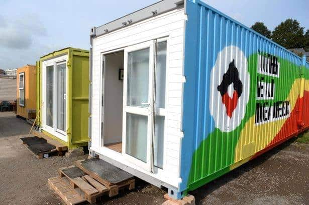 Micro flat providing shelter for the homeless in Bristol