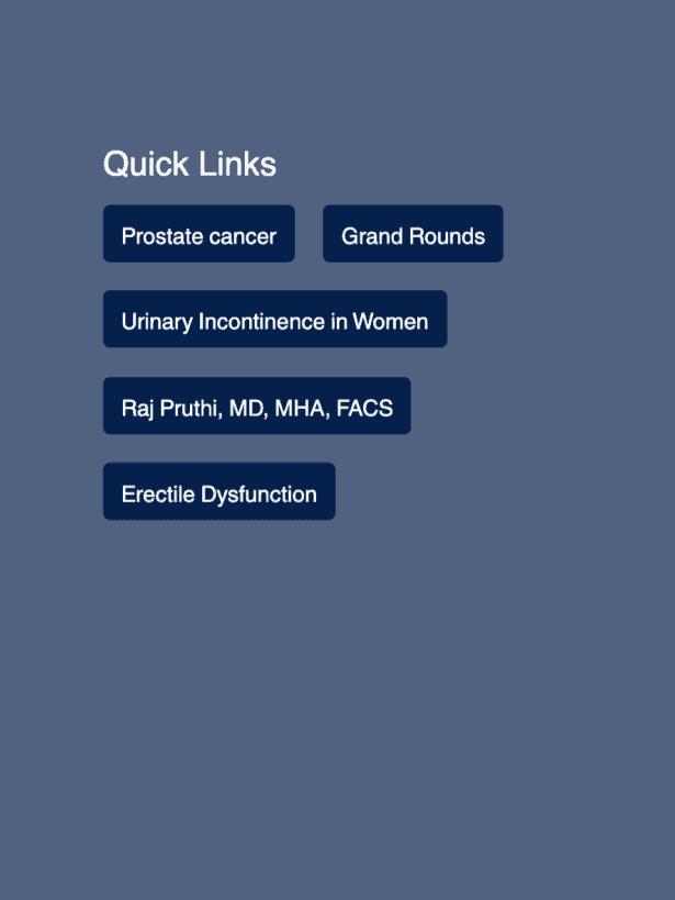 UCSF Urology Quick Links Area