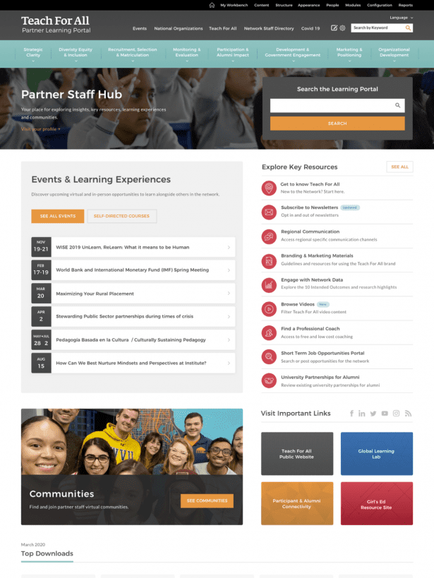 Teach for All Dynamic Dashboard