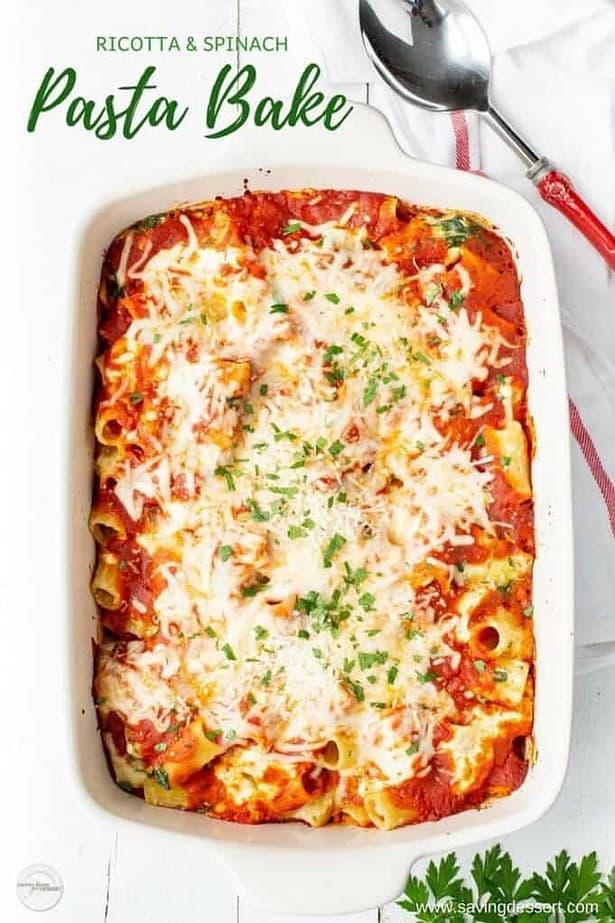 Ricotta & Spinach Pasta Bake