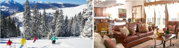 Skiing groups and families can spread out on vacation in spacious and beautifully updated four-bedroom residences at the Antlers at Vail hotel.