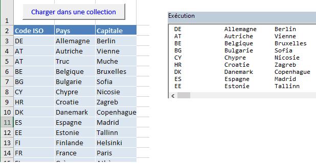 Charger un tableau Excel dans une collection VBA