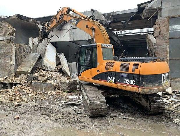 Демонтаж производственного сооружения