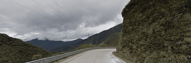 A bend in a highway, high in the Peruvian mountains