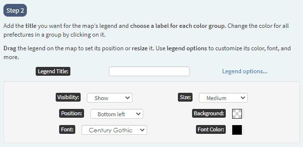 legend options