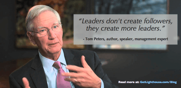 developing leaders be like tom peters and make more of them