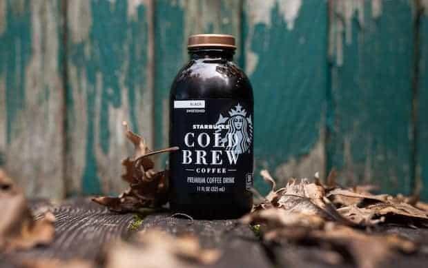 Bottle of Starbucks cold brew coffee