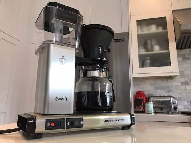 Technivorm Moccamaster on a kitchen counter