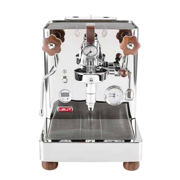 Straight on view of the Lelit Bianca espresso machine
