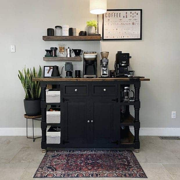 a coffee station that's always on display