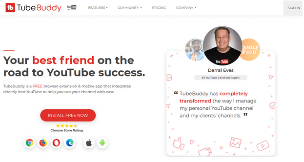 TubeBuddy YouTube Marketing Tools