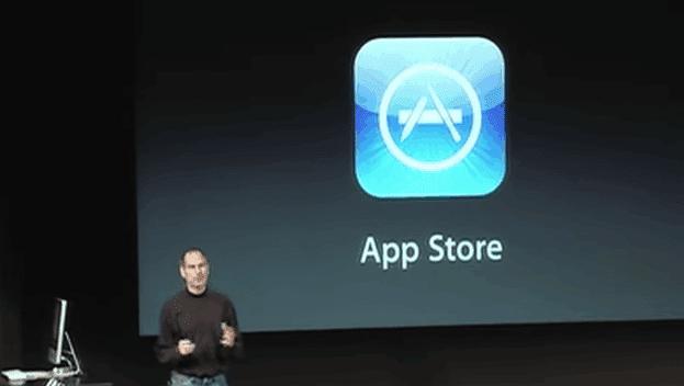 steve jobs announcing the app store