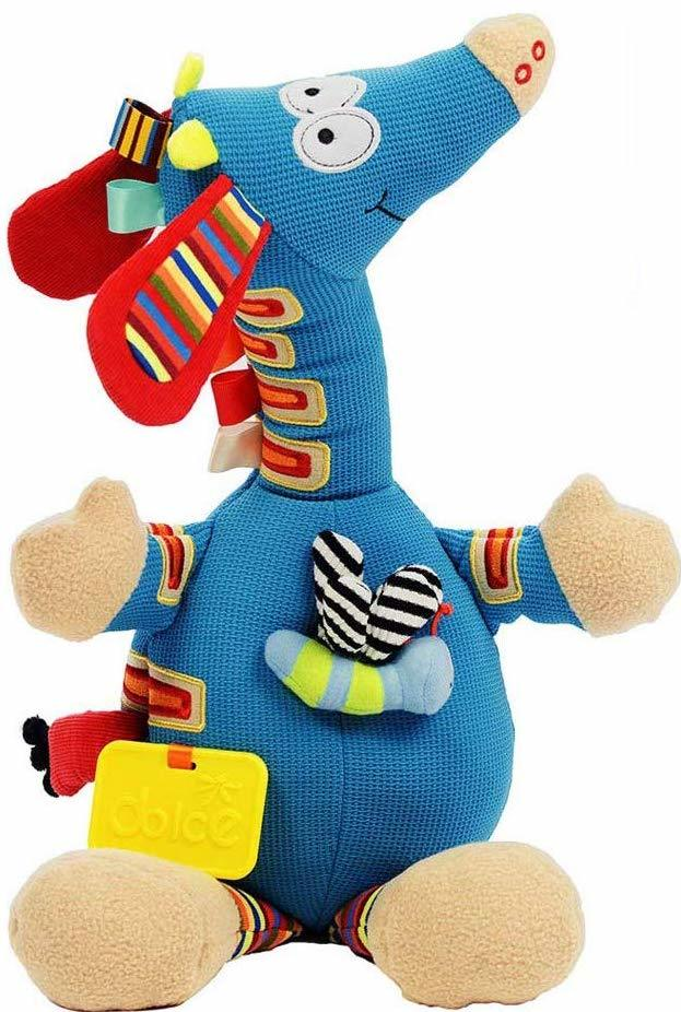 This dolce giraffe baby toy plays music