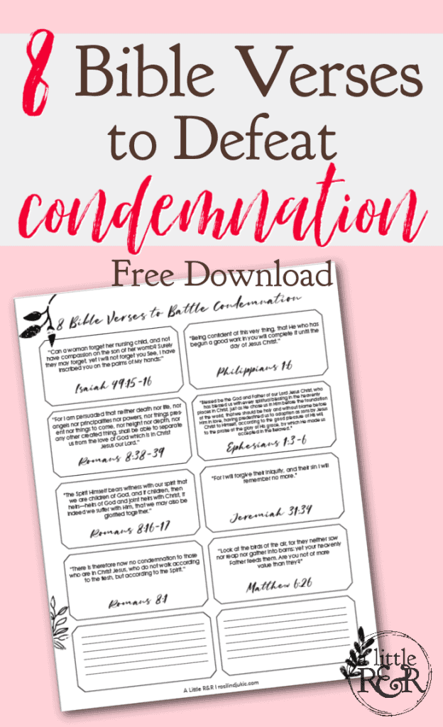 8 Bible Verses to Defeat Condemnation