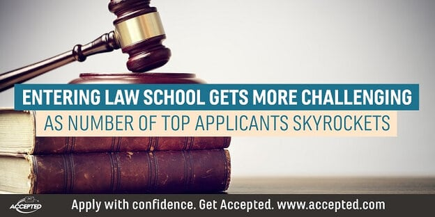 Entering law school gets more challenging as number of top applicants skyrockets