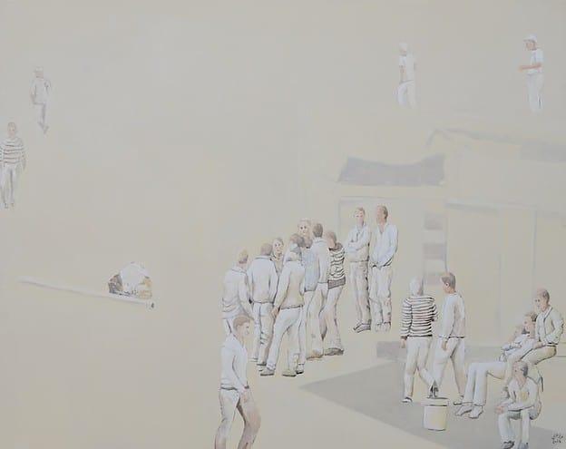 Jawad Al Malhi, Measures of Uncertainty IX, 2013, oil on canvas, 161 x 206 cm