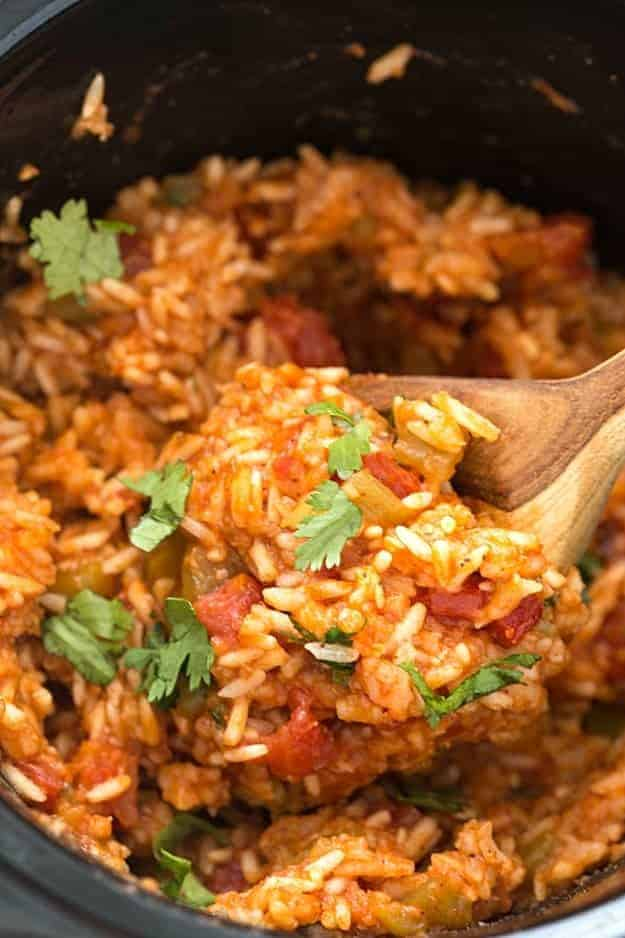Slow cooker Mexican rice