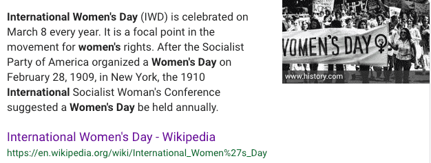 why is there an international women's day