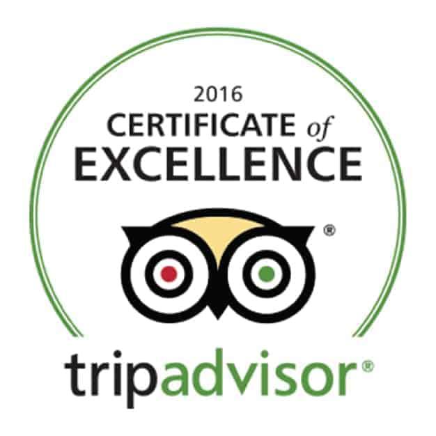 2016 Certificate of Excellence, TripAdvisor. Sandlapper awards