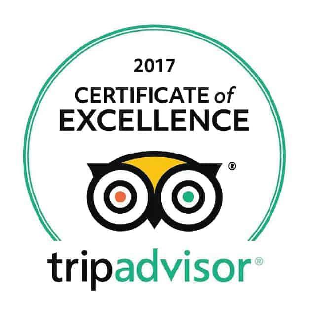 2017 Certificate of Excellence, TripAdvisor. Sandlapper awards