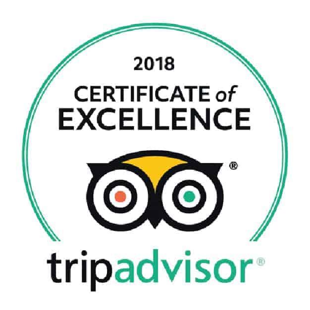 2018 Certificate of Excellence, TripAdvisor. Sandlapper awards